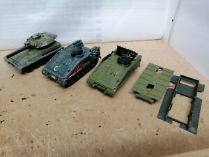 Dinky Toys Alvis Scorpion and Strikers 690 & 691 Joblot to restore or spares