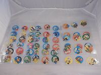VINTAGE 1971 SET of 55 ROCKS O' GUM CANDY LIDS NEAR MINT CONDITION