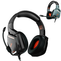 Pro Gamer Mic Gaming Headset Stereo Bass Surround Headphone For PS4/Xbox One/PC