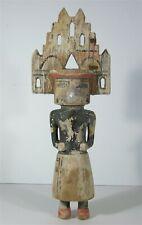 c1900 Native American Hopi Indian Cottonwood Root Katchina / Katsina Palhik Mana