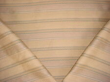 17+Y LEE JOFA EMBROIDERED BRASS / PISTACHIO STRIPE UPHOLSTERY FABRIC
