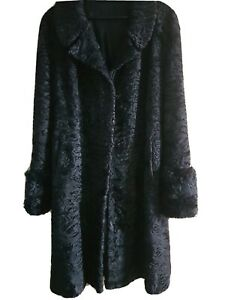 1930s VINTAGE Full Length Persian Lamb Coat, Good Condition with slight defects