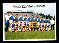 Hertha BSC Berlin Mannschaftskarte 1969-70 TOP