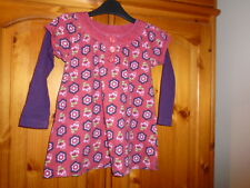 Red, purple and green floral long sleeve top, PUMPKIN PATCH, 4-5 years (106cms)