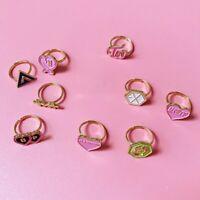 KPOP BLACKPINK Ring TWICE IZONE GOT7 TXT EXO SEVENTEEN Finger Ring Chic Jewelry