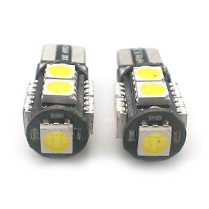 2x Xenon White 9 SMD LED Side Light W5W T10 501 Fits Land Rover AMSR1017W