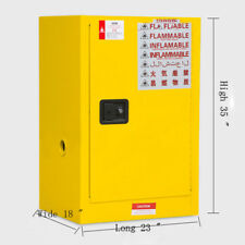 FLAMMABLE SAFETY CABINET, 12GALLON, 1MANUAL-CLOSE DOORS