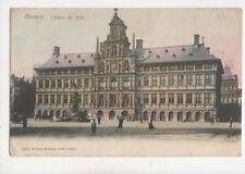 Anvers Hotel De Ville Belgium Vintage U/B Postcard 287b