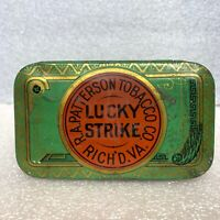 Vintage Lucky Strike Tin R A Patterson Tobacco Co Richmond Virginia Can Cut Plug
