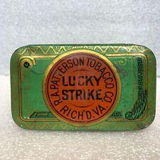 Vintage Lucky Strike Tin R A Patterson Tobacco Co Richmond Virginia Can Cut Plug