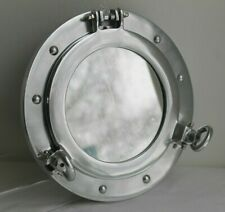 Coastal Design Wall Mounted Polished Metal Nautical Maritime Porthole Mirror