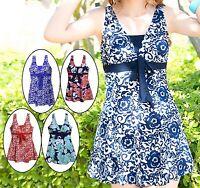 Womens Swimwear One Piece Swimsuit Beach Dress US Size 6 8 10 12 14 16 #7009