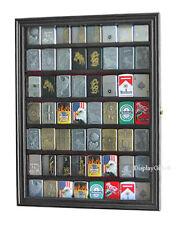 56 Sport Zippo Lighter Display Case Wall Cabinet Glass Door LC04-BL