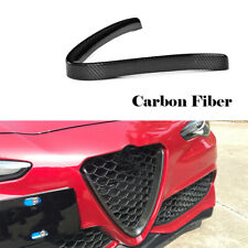 For Alfa Romeo Giulia Base Sedan 15-18 Front Grill Frame Carbon Fiber Cover Trim