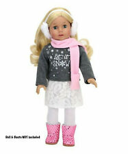 """Let It Snow Top,Skirt,Scarf, Legging,Ear Muff 18"""" Doll Clothes Fit American Girl"""