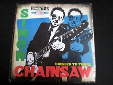 "SIMON CHAINSAW - DRESSED TO THRILL 7"" BLUE VINYL EP"