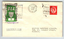 Great Britain 1953 8d Bea Flight Cover / Fdc / to Glasgow - Z13750