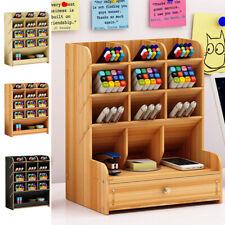 Pen Holder Box Home Office School Desk Organizer Stationary Storage Rack