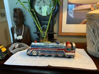 VINTAGE New Silver Mountain 4230 Tin Train Battery Operated 1969 Japan + Figure