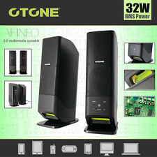 OTONE Afineo 2.0 Multimedia *32W* DEEP BASS Speaker System TV Laptop Smartphone