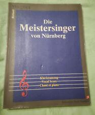 """PARTITION RICHARD WAGNER """"DIE MEISTERSINGER VON NURNBERG"""" CHANT ET PIANO"""