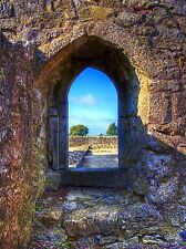 STONE WALL ARCH WINDOW CASTLE FORT PHOTO ART PRINT POSTER PICTURE BMP330A