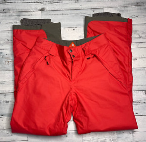 Columbia Omni-Heat Womens Arctic Trip Snow Pants Pink Gray Colorblock Pockets S