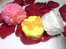 Roses Soap.Wedding Favor,Party Favor. 3 Bars of Soap You Pick Colors & Scents