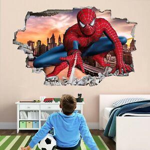 Spiderman Superhero Wall Art Stickers Mural Decal Kids Bedroom Decor EA50