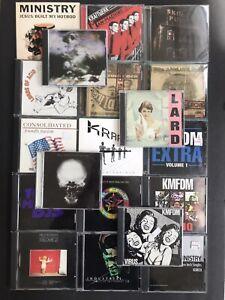 19x CD Lot Industrial Wax Trax! Ministry KMFDM Skinny Puppy Kraftwerk Revco