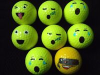 "20 ""EMOJI"" Golf Balls - ""A MINUS / B PLUS"" Grades - RANDOM MIX OF MODELS"