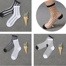 Women Lace Transparent Crystal Socks Different Style Silk Ankle Stocking Fashion