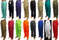 Men's PJ MARK cargo pants brown black olive khaki yellow orange grey blue 41359