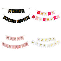 Birthday Bunting Garland Gold Pastel Happy Alphabet Party Hanging Banner Décor
