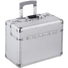 Pilotenkoffer Handgepäck Businesskoffer Aktenkoffer Koffer Trolley silber