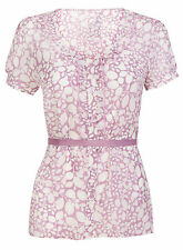 V Neck Singlepack Short Sleeve Women's Blouses