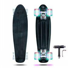 New Complete Skateboard Mini Cruiser Penny Style Beginners Board Plastic Deck