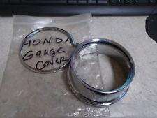 NOS Honda Meter Cover Chrome Gauge Cover With Rims 1972-1976 CB750 ???