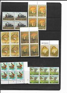 Zambia collection MNH blocks
