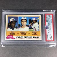 1981 Topps Expos Future Stars TIM RAINES Rookie RC #479 PSA 8