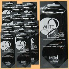 20 DEVOTED CREATIONS WHITE 2 BLACK EXTREME BRONZER PACKET TANNING LOTION SAMPLE
