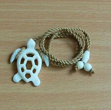 Hawaiian White Bone Hand Carved Men Honu Turtle Fashion Hawaii Necklace/Chocker