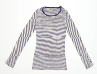 Gap Womens Size XS Striped Cotton Blend Multi-Coloured Long Sleeve T-Shirt (Regu