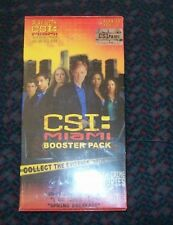 BRAND NEW SEALED CSI MIAMI BOOSTER PACK FOR THE BOARD GAME