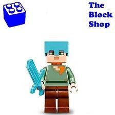 NEW LEGO - Alex with Medium Azure Helmet (21122) Minecraft Minifigure Minifig