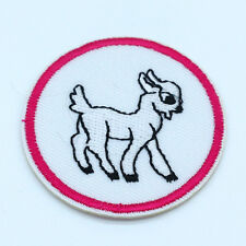 2PCS Goat Embroidery Iron on Patches Sewn Applique Embroidered DIY Motif 5CM NEW