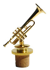 """Trumpet replica brass gold plated handmade collectible 3.125"""" Bottle stopper"""