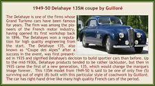 Esval 1949-1950 Delahaye 135M Coupe by Guillore blue 1:43 New