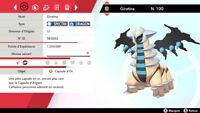 Pokemon GIRATINA SHINY 6iv level 100 Epée & Bouclier - Sword & Shield