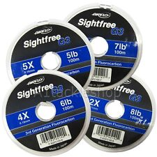 Airflo 100m Sightfree G3 Fluorocarbon Fly Fishing Tippet Leader Material